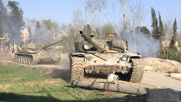 الغوطة الشرقية: سيطرة كاملة على عين ترما.. وحرستا خالية من المسلحين