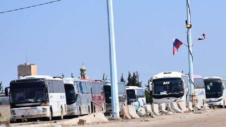 آخر حافلات المسلحين تغادر ريفي حمص الشمالي وحماة الجنوبي